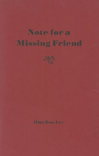 Note for a Missing Friend