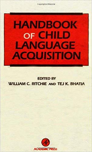 Handbook of Child Language Acquisition