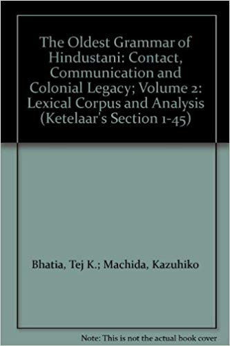 The Oldest Grammar of Hindustani: Contact, Communication and Colonial Legacy; Volume 2: Lexical Corpus and Analysis
