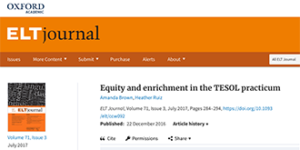 Equity and enrichment in the TESOL practicum