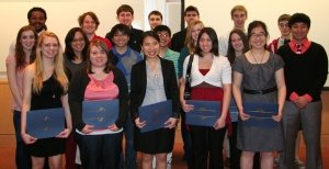 Students from the Department of Chemistry who received 2012 awards for excellence