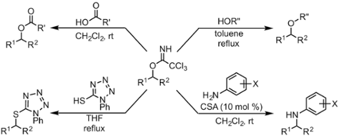 Figure 3. New substitution reactions with trichloroacetimidates.