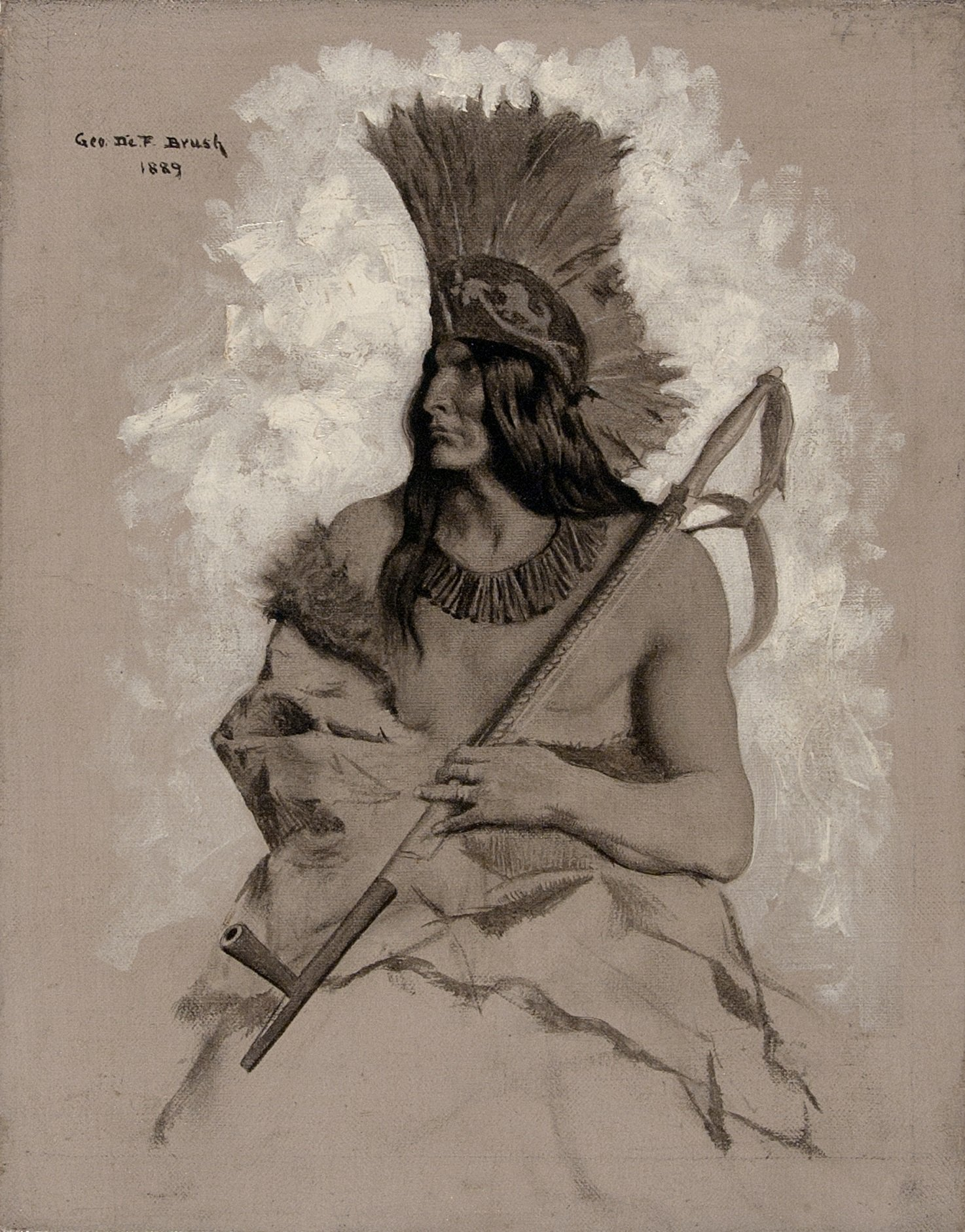 George de Forest Brush, Seated Indian Chief, 1889.jpg