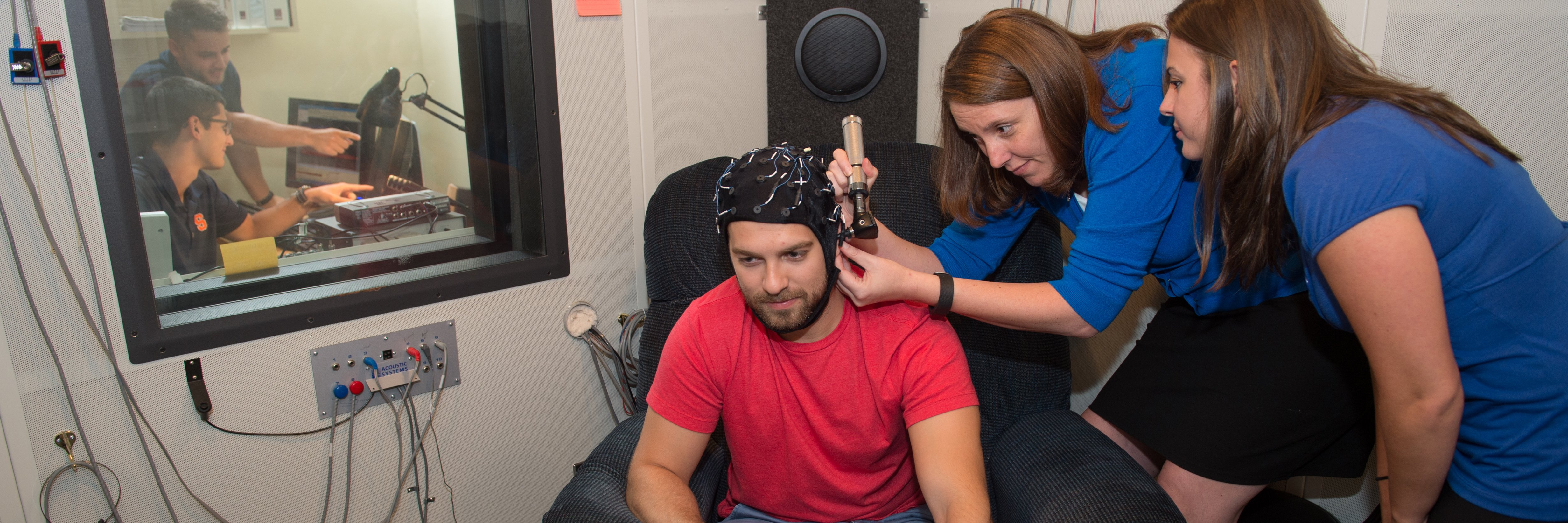 Student demonstration in hearing lab