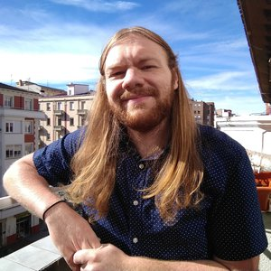 Dylan Bryant on the terrace of his apartment in La Rioja, Spain.