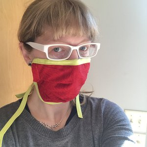 Woman wearing health mask