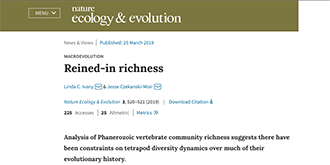 MACROEVOLUTION Reined-in richness