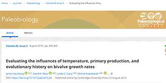 Evaluating the influences of temperature, primary production, and evolutionary history on bivalve growth rates