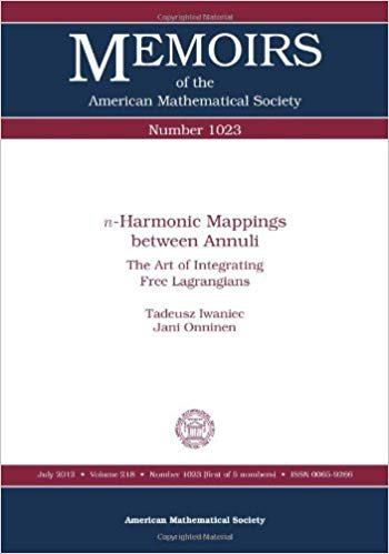 n-Harmonic Mappings Between Annuli: The Art of Integrating Free Lagrangians;Memoirs of the American Mathematical Society