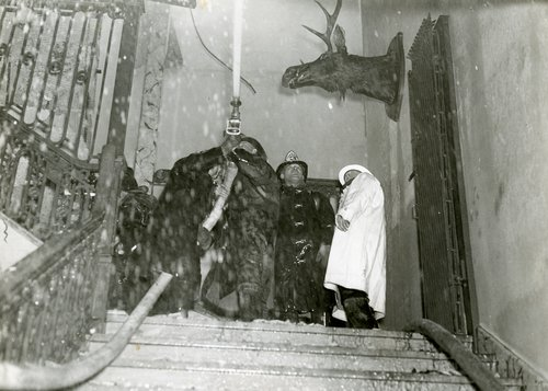 A fire in Lyman Hall in 1937 destroyed the Museum of Natural History.