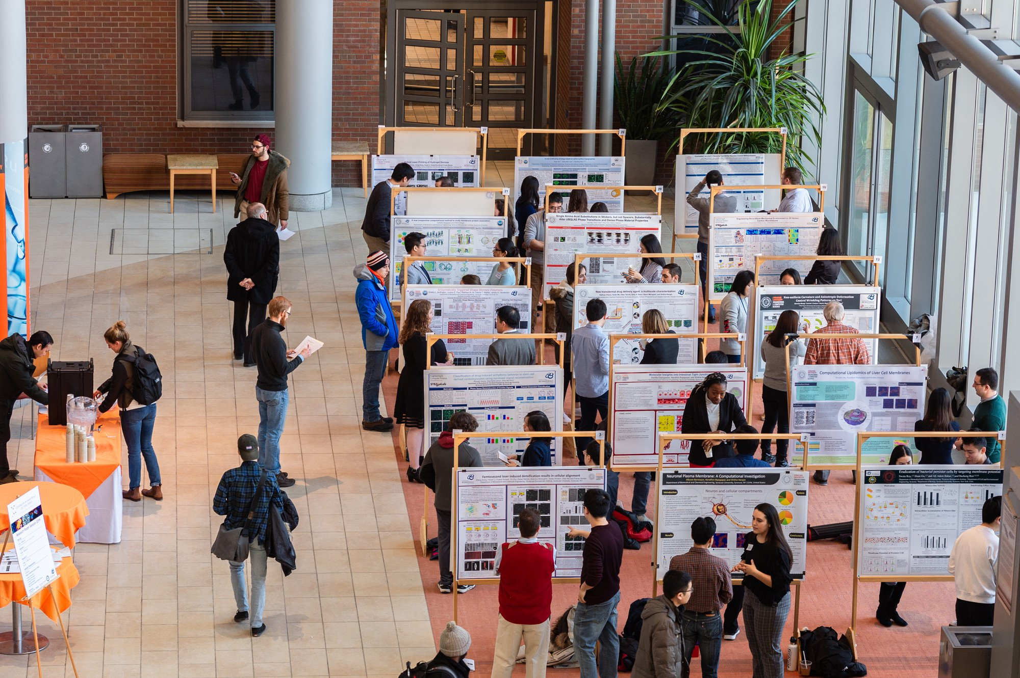 A poster session featuring Syracuse University researchers.