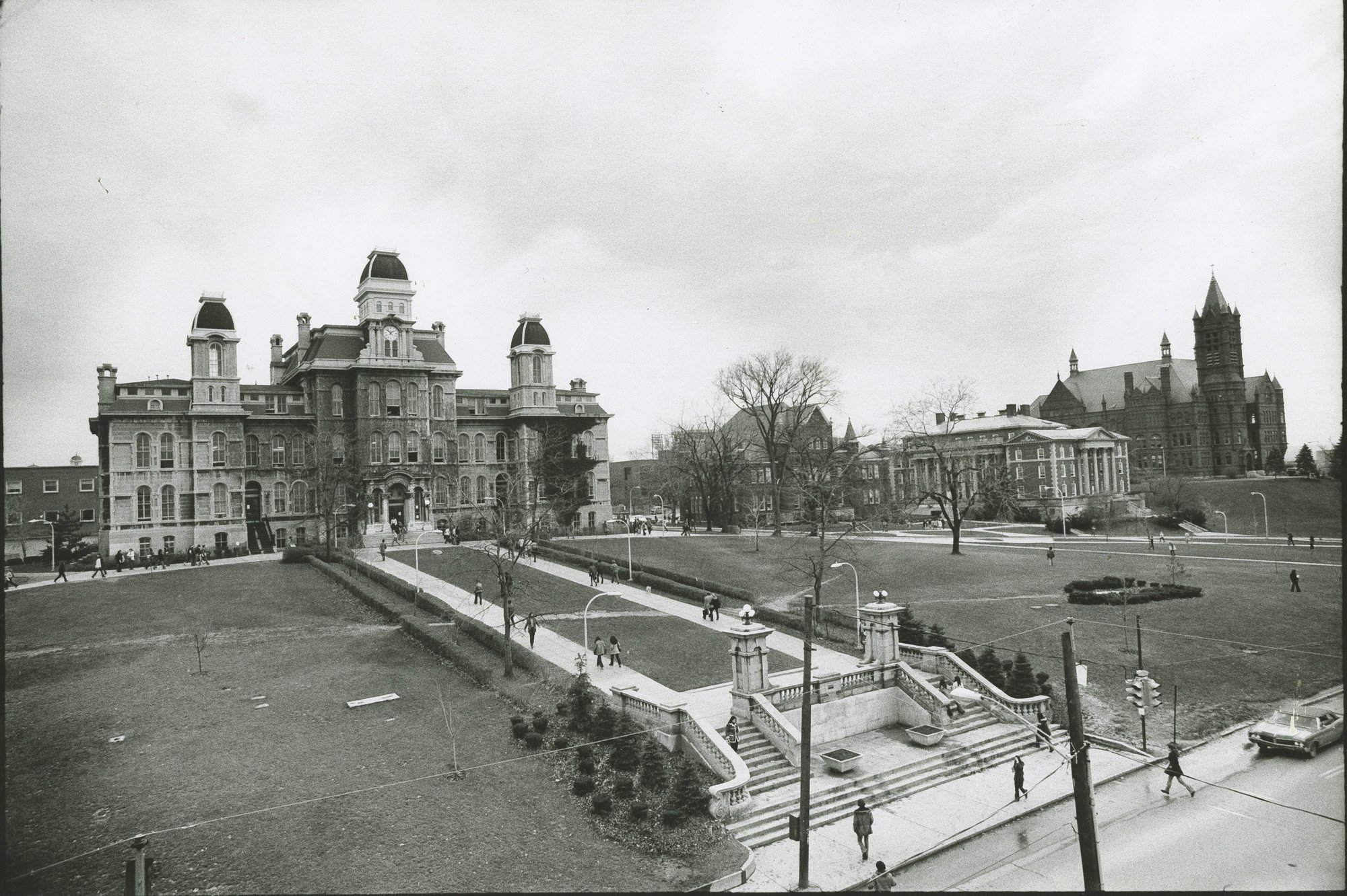 Archival image of Hall of Languages.