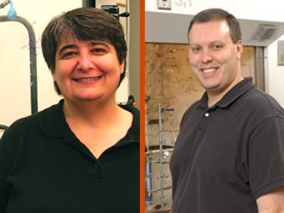 Associate professors, Nancy Totah and John Chisholm
