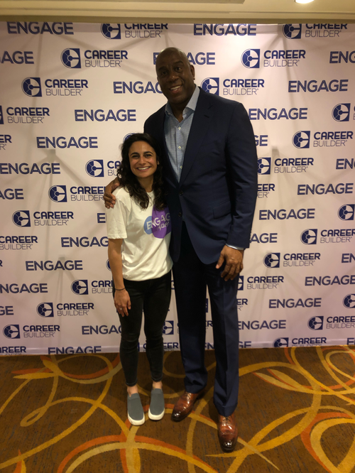 "Antonia was able to meet former professional basketball player, Earvin ""Magic"" Johnson Jr. through her internship experience."