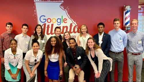 Dineen (back row, fourth from right) at Google's sales and marketing office in Midtown Atlanta.