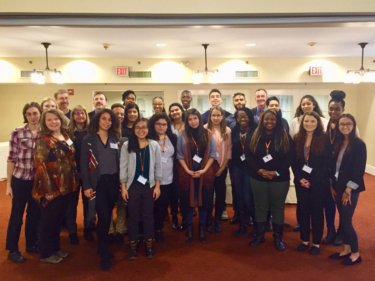 Large group of students and faculty from Diversifying Psychology Day