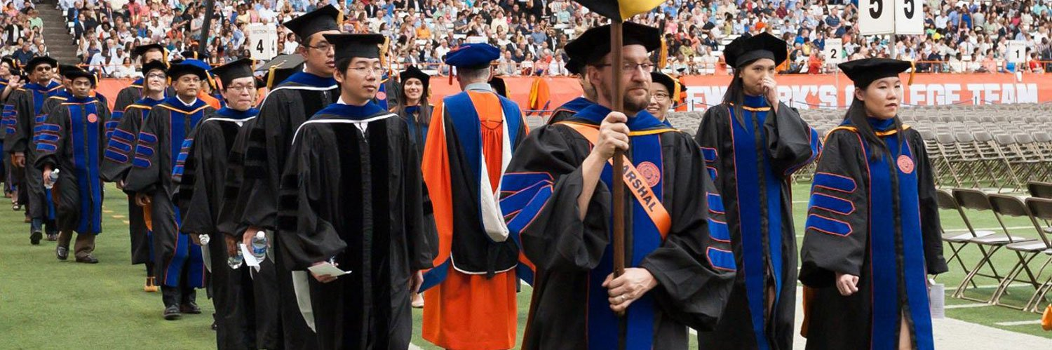 Commencement procession at Syracuse University