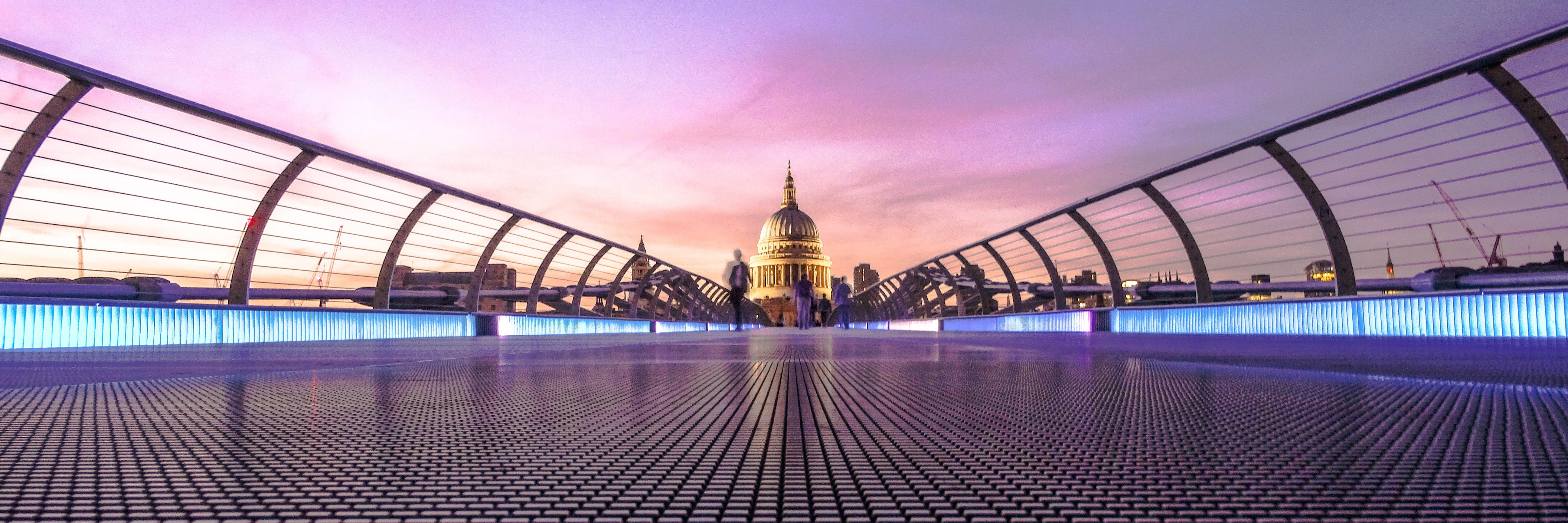 St Pauls Cathedral Millennium Bridge, London, United Kingdom