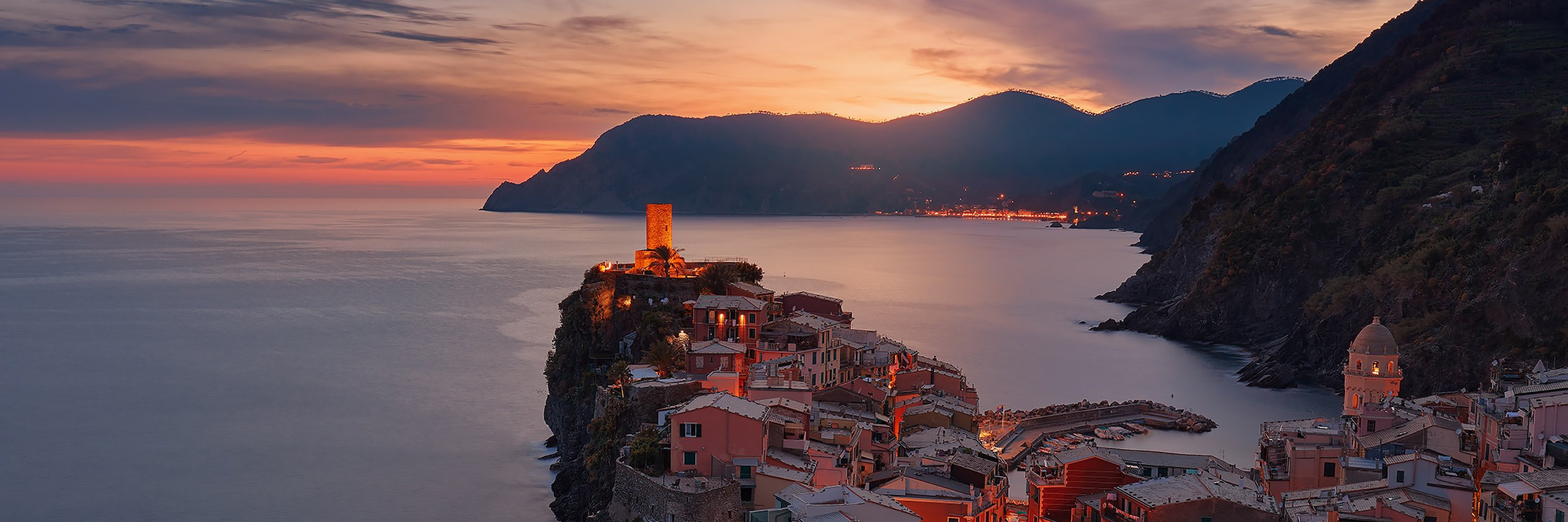 Sunset over Vernazza, Italy
