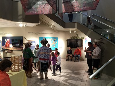 Haudenosaunee and visitors at Skä·noñh: Great Law of Peace Center​
