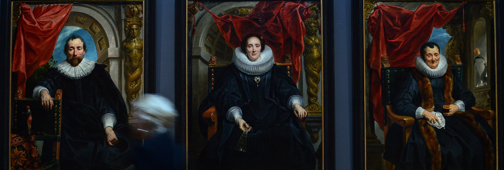 three portrait painting from museum in the Netherlands