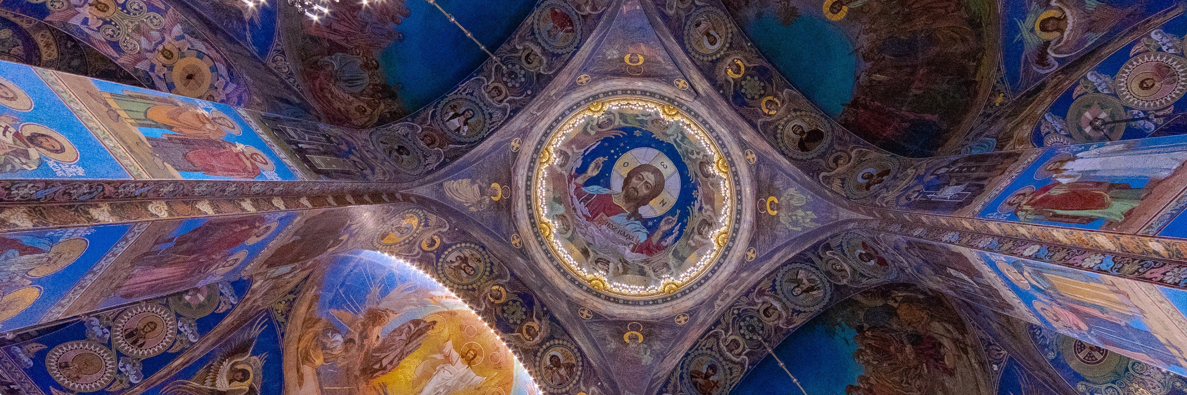 interior of the Church of the Savior on Spilled Blood, Saint Petersburg, Russia