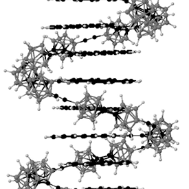 graphic showing possible molecular structure
